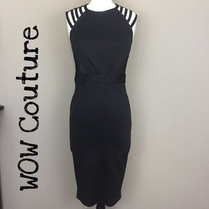 WOW Couture Black Cutout Dress Size Medium